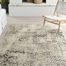 pellot light gray cream area rug