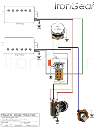 wiring diagram for electric guitars 2 humbuckers volume wiring