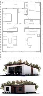Small House CH92  2F147M3B Affordable House PlanAffordable House Plans To Build