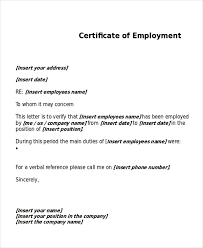Sample Certificate Of Employee Magdalene Project Org