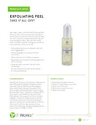 it works exfoliating peel before and after it works exfoliating peel