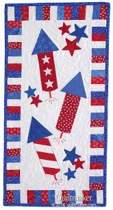 242 best Patriotic Quilts images on Pinterest | Calendar, Classic ... & Red Rockets quilt pattern: Easy fusible applique is perfect for creating a  quick summer wall Adamdwight.com