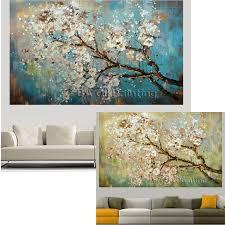 MYT Big <b>100</b>% <b>Handpainted</b> Flowers Tree Abstract <b>Morden</b> Oil ...