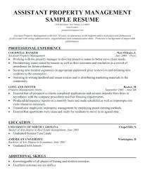 Sample Assistant Property Manager Resume Property Manager Manager