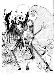 Small Picture Jack and Sally Nightmare Before Christmas Coloring Pages Jack