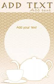 Tea Kettle And Cup Menu Or Other Tabloid Template In Gold