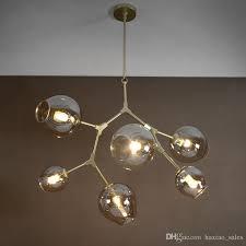 lindsey adelman light creative branching bubble glass chandelier modern art pendant light office living room light lantern pendant light pendant lamp shade