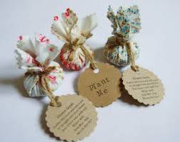 wedding favours etsy uk Wedding Giveaways Uk set of 10 country garden flower seed wedding favours with hand stamped circular labels wedding giveaway contest