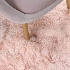 dahlia pinkmongolian fur rug