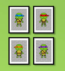 teenage mutant ninja turtles inspired wall art boys in turtle bedroom decor inspirations 29