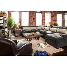 Value City Furniture Living Room Sectional Sofa Ventura Charcoal Collection From Ultimate Comfort