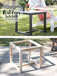 diy outdoor side table pottery barn