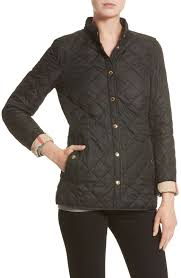 Burberry Women's Pensham Check Cuffs Diamond Quilted Jacket in ... & Picture 1 of 11 ... Adamdwight.com