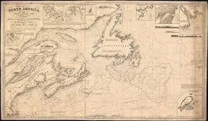 Details About 1848 Hobbs Blueback Nautical Map Of Newfoundland Nova Scotia Canada
