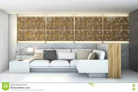 Led Wooden Wall Design 3d Rendering Wood Wall Design With Led Light Living Room