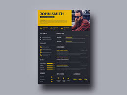 Graphic Designer Resume Sample Free Creative Designer Resume Template By Andy Khan On Dribbble