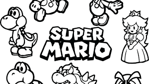 Mario Bro Coloring Pages Free Printable Coloring Pages Brothers