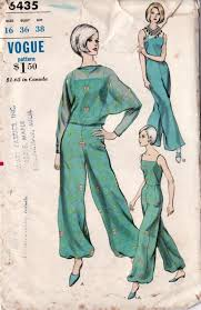 Jumpsuit Pattern Vogue New Another Vintage Frankenpattern A Jumpsuit Based On Vogue 48