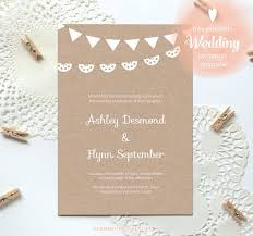 best 25 free printable wedding invitations ideas on pinterest Vintage Wedding Invitation Templates Photoshop free printable wedding invitation template {kraft paper} just download, fill in and Wedding Invitation Templates Blank