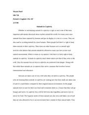 metamorphosis essay shyam patel hr m period the  3 pages animals in captivity essay