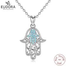 <b>EUDORA</b> Authentic <b>100</b>% <b>925</b> Sterling Silver Hamas Hand Of ...