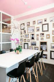 feminine office decor. Never Underestimate The Power Of A Pink Ceiling Interior Officeoffice Decoroffice Ideasgrey Ceilingfeminine Feminine Home Office Decor