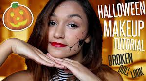 easy broken doll makeup tutorial