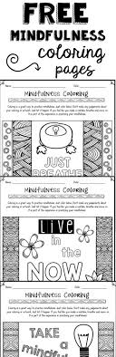 Free Mindfulness Coloring Pages To Help