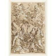 Christ and the Virgin with Patron Saints of Pistoia, Giacinto Gimignani,  1638 | Patron saints, Saints, Christ