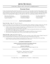 pastry chef resume ilivearticles info