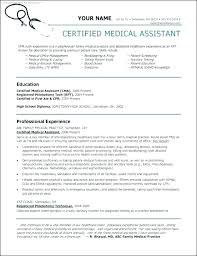 Free Medical Assistant Resume Template Amazing Samples Medical Assistant Resumes Examples Of Medical Assistant