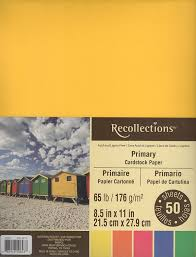 Amazon Com Recollections Cardstock Paper 8 1 2 X 11 Primary