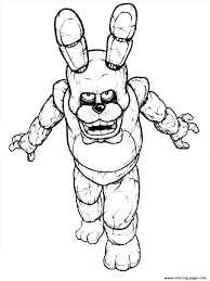 Coloring Fnaf Coloring Book Freddy Five Nights At Freddys Free
