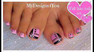 Toe Nail Art Designs Toenail Art Design Pink And Black Toes Diseño De Uñas De Pies