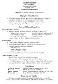 Luxury Idea Medical Resume Examples 16 Free Medical Assistant