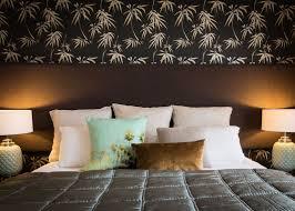 Master Bedroom Wallpaper Bedroom Bask Interiors