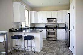 kitchen ideas white cabinets black countertop. Elegant Design Interior Of Narrow Kitchen Ideas With White Adorable Small Remodel The Headlining Captivating Repainting Cabinets G Black Countertop T