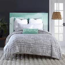 amy sia artisan reversible twin comforter set in grey tie dye