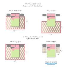 rugs area rug size guide double beds for king bed