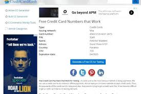 We did not find results for: Credit Card Generator With Cvv And Expiration Date And Name