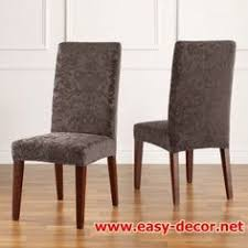 sure fit slipcovers stretch jacquard damask short dining chair covers dining chair cover
