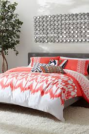 Hollyhock Ikat Duvet Piece Set Coralwhite Picture With Incredible Coral  Bedding Sets Queen For Coral Bedding ...