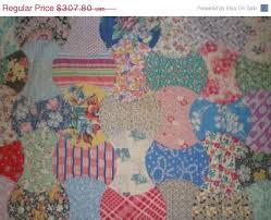 23 best Vintage quilt pattern images on Pinterest | Quilt patterns ... & Feedsack Quilt in rare Apple Core pattern, Apple core Quilt, Vintage quilt,  multi color, Double Axe head quilt, Vacation Adamdwight.com