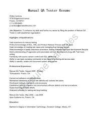 Manual Testing Resume Software Testing Sample Resume Selenium Tester