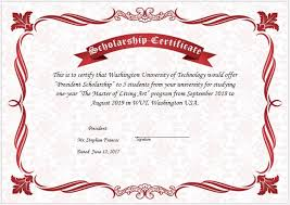 award certificates template scholarship award certificate template word excel templates