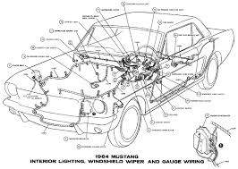 1964 mustang interior lights windshield wiper and gauges pictorial or schematic