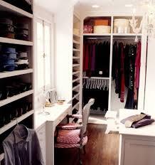 cool small walk in closet ideas with chandelier vanity window built in storage