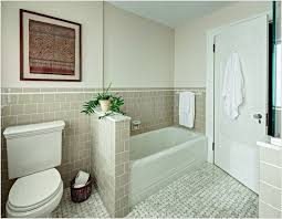interior bathroom half wall tile popular height decoration plan with regard to 4 from bathroom