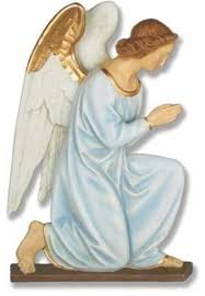 angel wall plaque hands praying garden