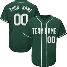 Baseball Jersey Amazon For Team Design Button amp; Women Name Full Green Your Men S-8xl com Youth Hunter Embroidered Own Custom - Clothing Numbers